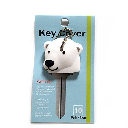 Key Cover / Key Caps / Key Holder / Keycaps - Cute Animal Pet Faces (Polar Bear)