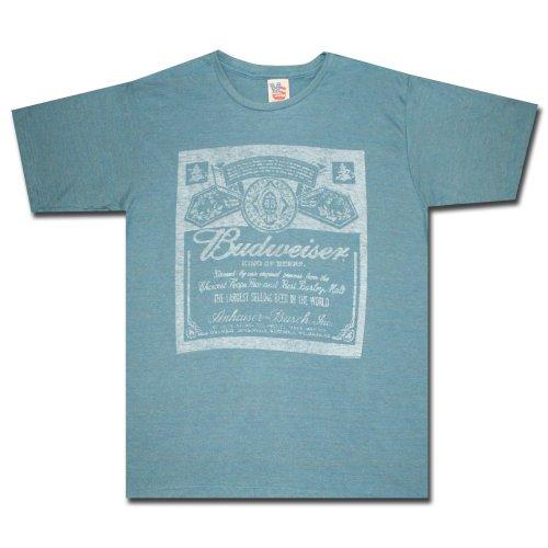 Junk Food Men's Budweiser Shirt, Reef Blue, Medium
