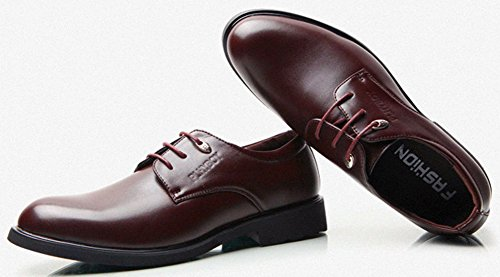 Diffyou Mens Formal Lace Up Wingtip Chunky Oxfords Shoes Brown kTifEn