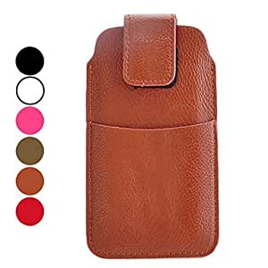 HP DFLitchi Grain Full Body PU Leather Protective Case for iPhone 5/5S (Assorted Colors) , Bronze