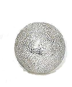 "'Bola decorativa ""Mosaico Plata Bolas De Cristal reluciente mosaico Ladrillos 8,5cm"