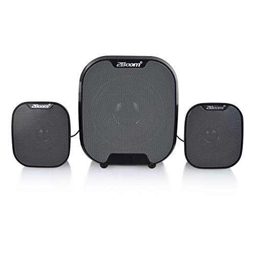 2BOOM Dynamic Portable Wireless Bluetooth 2.1 Loud 4-inch Digital Outdoor/Laptop Subwoofer Black