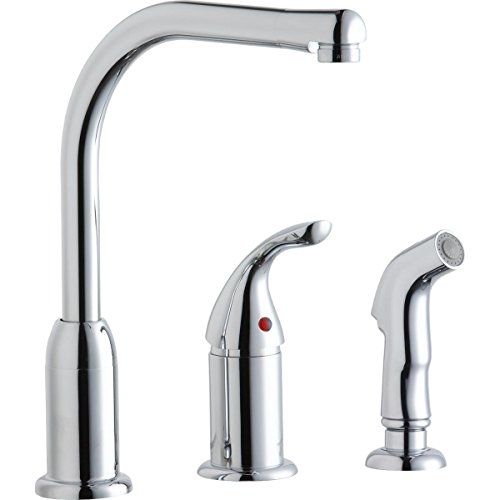Elkay LK3001CR Everyday Chrome Remote Lever Kitchen Faucet with Side Spray