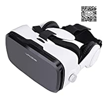 Virtoba X5 3D VR Glasses, 3D VR Headset Virtual Reality Box VR Box Soft Fiber Headset Hands Free Support VR Movies AV Video Game for Apple iPhone,Samsung,Other 4 to 6 Inch Android Smart Phones