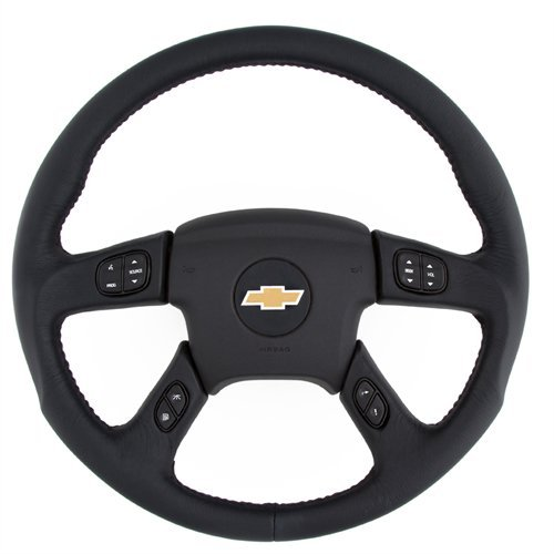 Grant 61037 Revolution Style OEM Airbag Replacement Steering Wheel (Black Leather Wrapped), 1 Pack (Leather Steering Wheel Wrapped)