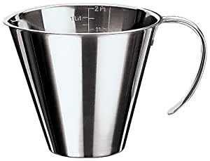 Paderno World Cuisine 3-3/8-Ounce Stainless-steel Stackable Measuring Jug