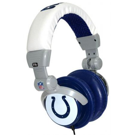IHIP NFH22IND INDIANAPOLIS COLTS HEADPHONES DJ STYLE NFL LOGO-by-IHIP