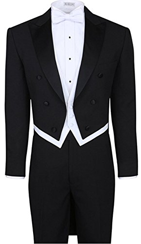 - Fortino Landi Tuxedo with Tail T505-Black-48R