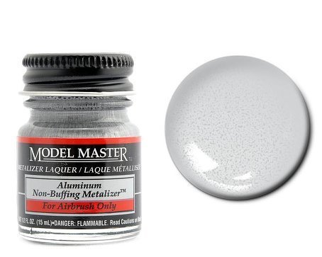 Aluminum Non Buffing Metalizer Enamel Paint .5oz Bottle ()