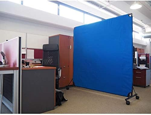 VERSARE VP6 Economical Rolling Room Divider Durable, Lightweight and Easily-Transportable Tan 6 x 6