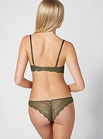 d329458498b19 BouxAvenue Women s Chloe Lace Thong UK 06 Khaki  Boux Avenue  Amazon ...