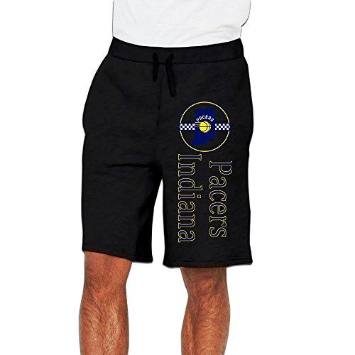 Men's Indiana Pacers Cotton Short Sport Pants Black US Size L