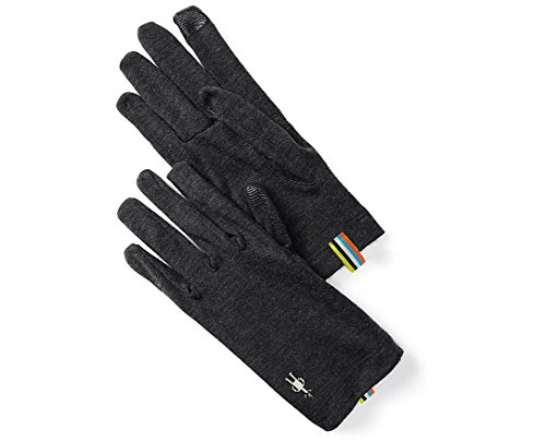 SmartWool NTS Mid 250 Glove (Charcoal Heather) X-Small (Glove Liner Smartwool)