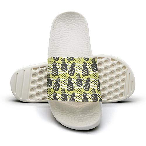 Sansalsk2 Woman Designer Slipper Concept Pineapple Silhouette Juicy White Quick-Dry Open Toe Flat Slide Slides Shoes