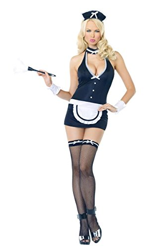 Leg Avenue Womens Man Stealing Maid Adult Costume (Medium)