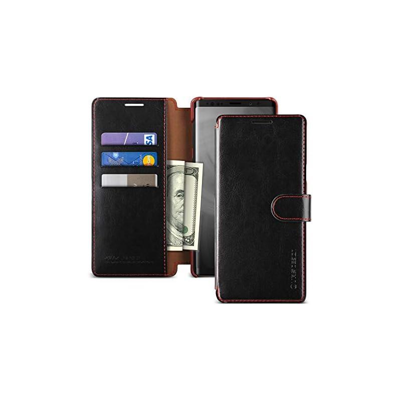 Note 9 Case, VRS Design [Black] 3 Cards