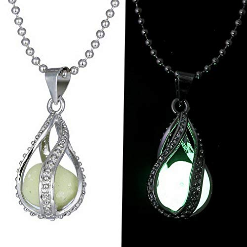 Kaputar Fashion Glow in The Dark Pendant Necklace Magic Steampunk Pretty Fairy Locket   Model NCKLCS - 19054  