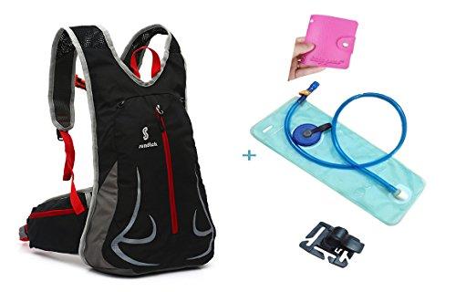 15L waterproof riding helmet backpack Black - 2