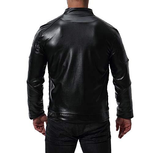 2 Uomini Massiccio Xinheo Ispessimento Oversize Pu Collo Con Outwear Alto Cerniere Del PxAqtdgBqw