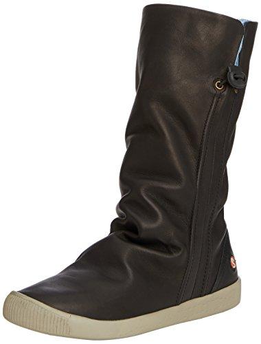 Softinos Ilka - botines de caña media sin forro de cuero mujer negro - Black (Black (Light Grey Sole))