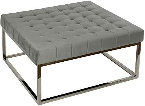 Cortesi Home Large Tufted Coffee Table Ottoman