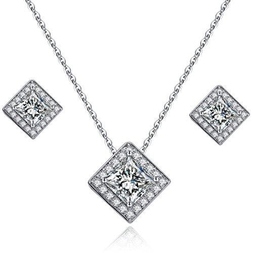 [Jewelry Sets,Stud Earrings for Women Jewelry 18k White Gold Plated Fashion Jewelry Sets for Women] (The Shining Couple Costume)