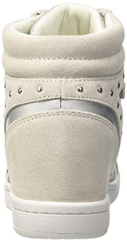 Versace Jeans Ladies Ee0vrbsc1_e70021 Sneaker Alta Argento / Nero