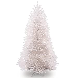 National Tree 7.5 Foot White Dunhill Fir Christmas Tree, Hinged (DUWH-75LO) 105