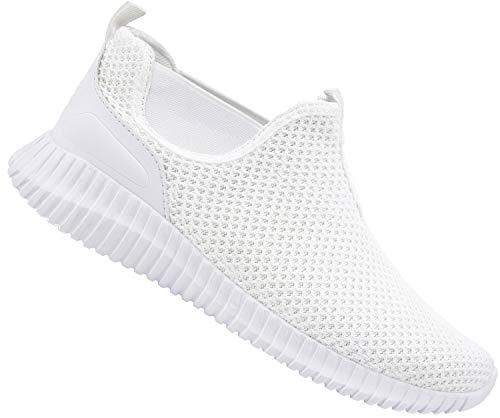 JINKUNL Mens Casual Shoes Knit Breathable Lightweight Slip On Sport Walking Running Sneakers