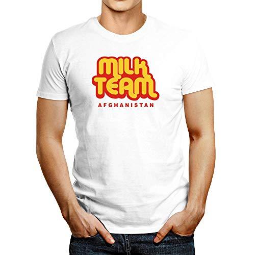 Idakoos Milk Team Afghanistan T-Shirt White