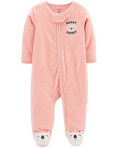 Carter's Baby Girls' Footie Sleep N Play (3 Months, Beary Sweet)
