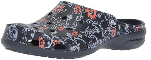 Garden Clogs (Crocs Freesail Women's Graphic Clog, Navy/Floral, 8 M US)