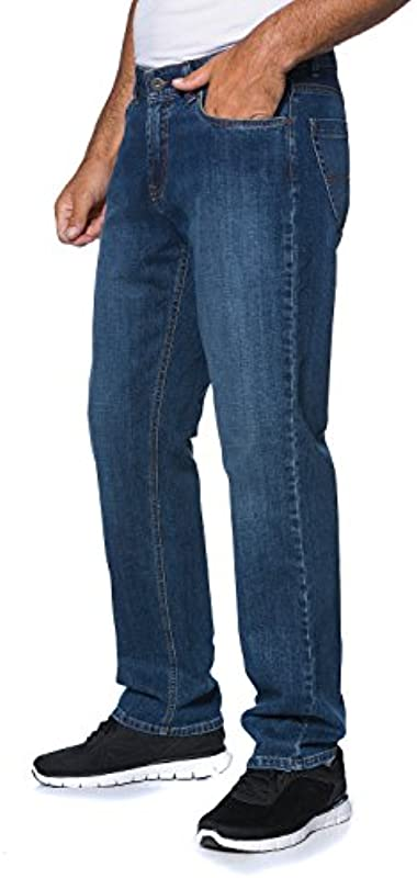 JP 1880 Męskie duże rozmiary do 66, spodnie dżinsowe, kształt 5 kieszeni, spodnie denim o regularnym kroju, rozciągliwy krÓj, bawełna 703353: JP 1880: Odzież