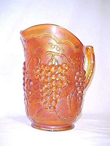 Vintage Imperial Amber Grape Pattern Carnival Glass ()
