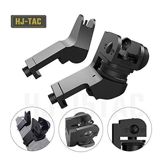 Hojan Outdoor Sports Backup Iron Sights Tactical 45 Degree Offset Rapid Transition with Hexagon Wrench