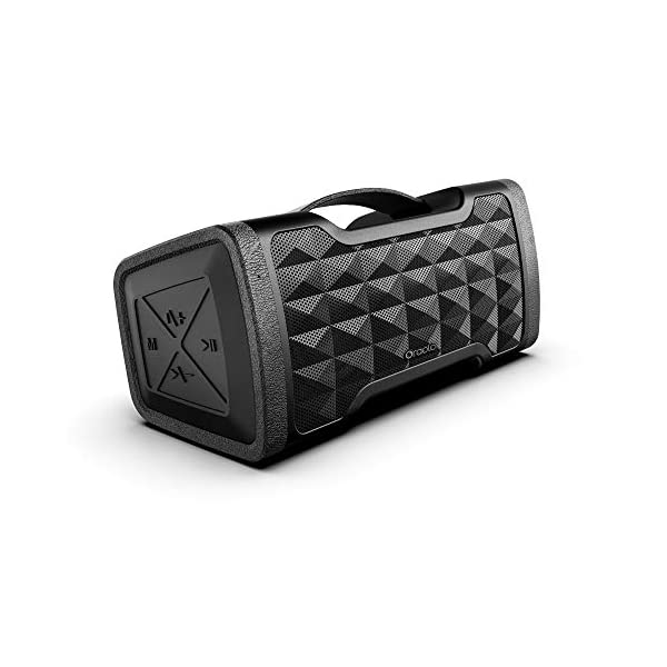 Portable Bluetooth Speakers, IPX5 Waterproof Speakers with 24W Stereo Sound, Bluetooth 5.0 and Built-in Mic, 20H Playtime Outdoor Speakers, Durable Design Suitable for Travel, Party, Camping, Black