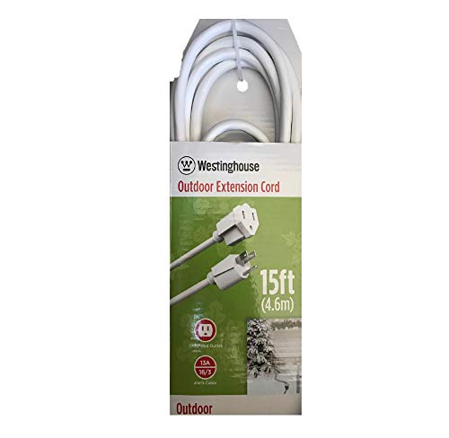 Westinghouse Outdoor Extension Cord - 15 ft, White