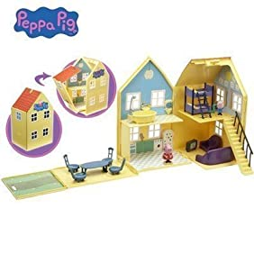 Deluxe Peppa Pig playhouse includes figures and accessories for fantastic fun