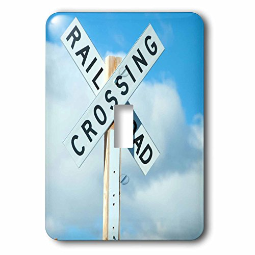 3dRose lsp_252016_1 a Railroad Crossing Sign on Blue Sky Toggle Switch, Multicolor by 3dRose