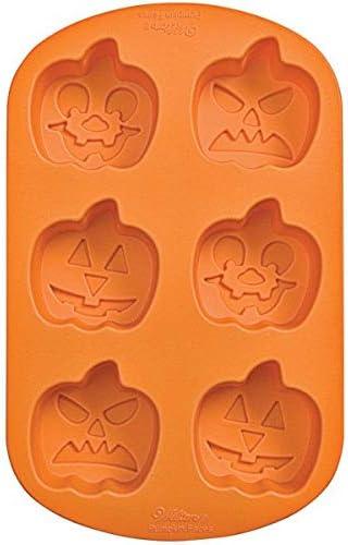 Wilton社製かぼちゃ<3種類x2個>シリコンモールドdecora-shop お菓子道具の専門店【wl4939】