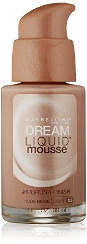 Maybelline Dream Liquid Mousse Airbrush Foundation, Natural Ivory [30], 1 oz (Ivory Face Foundation)