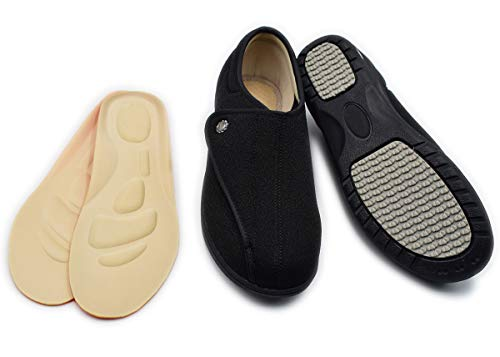 17ea65dc5581 Mei MACLEOD Women s Memory Foam Foot Pain Plantar Faciitis Extra Wide Width  Arthritis Edema Nursing Shoes