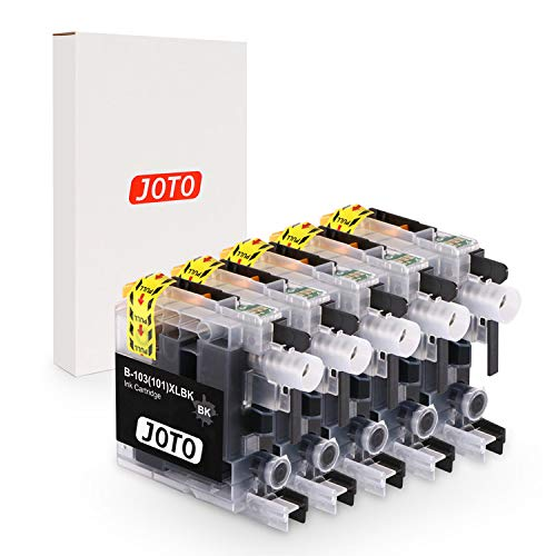 JOTO Compatible Ink Cartridge Replacement for Brother LC-103XL LC103XL LC103 XL for Brother MFC J870DW J450DW J470DW J650DW J4410DW J4510DW J4710DW J6720 J6920DW (Black, 5 Pack, High Yield)