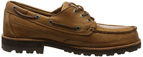 Sebago Vershire Three Eye, Náuticos Para Hombre Marrón (Tan Tumbled Leather)