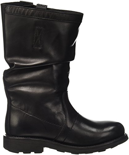 BIKKEMBERGS Damen Vintage 176 Mid Boot W Dyed Leat High-Top Schwarz