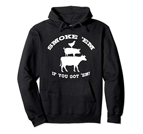 BBQ Gifts for Men Meat Smoking Barbecue Hoodie Grilling Dad ()