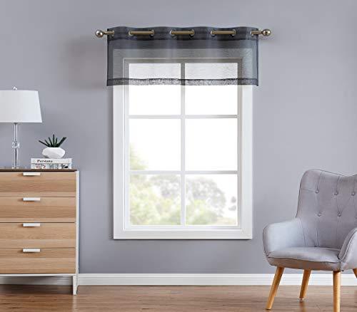 DecoSource Semi Sheer Window Valance - 54