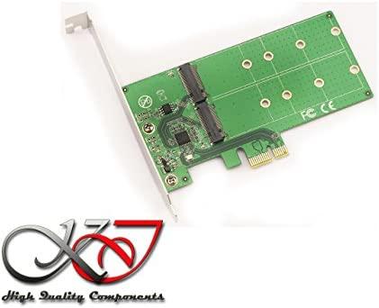 Kalea Informatique – Tarjeta controladora PCIe 2.0 para 2 x ssd M2 (tipo SATA) – para M.2 NGFF en B Key o B + M Key (SATA) – con escuadras Low y High ...