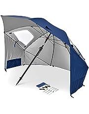 Sport-Brella Unisex's Sport Bella Premiere, multifunctionele parasols voor tuin, eenvoudig opklapbare setup, blauw, 1 maat