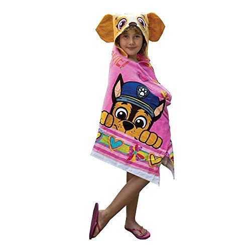Paw Patrol Girl (Franco Kids Bath and Beach Soft Cotton Terry Hooded Towel Wrap, 24